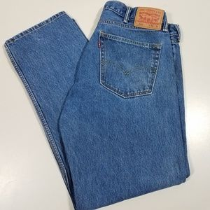 Levis 505 Regular Fit Straight Leg Jeans Sz 38x30